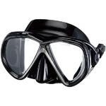 ダイビングマスク 【ブラック】 2眼マスク 大人用 メンズ レディース ワンタッチベルト 『MARTINIQUE ISTPROLINE M-75』