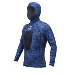 メンズ ウェットスーツ タッパー/インナー 【カモフラージュ ブルー XXLサイズ】 2mm 伸縮 『ISTPROLINE VSH100-10』