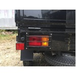スチールシマ板 軽トラック用 テールガード テールカバー つや消しブラック ハイゼット
