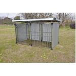 ドッグハウス DFS-M1 (0.5坪タイプ屋外用犬小屋) 中型犬 大型犬 犬小屋 ステンレス製