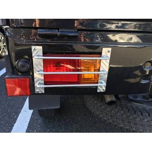 アルミシマ板 軽トラック用 テールガード テールカバー ハイゼット タイプ2 - 拡大画像