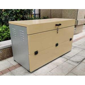 万能オープン収納ボックス 組立式 ゴミステーション ダストボックス OPN-1100 - 拡大画像