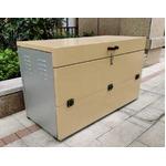 万能オープン収納ボックス シルバー/ベージュ 組立品 OPN-1100