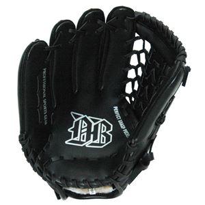 軟式野球グローブ一般用 左利き用 ブラック 12インチ - 拡大画像