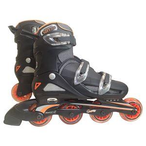 一般用インラインローラースケート オレンジ 24〜27cm(4段階 サイズ調整可能) - 拡大画像