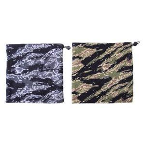 (まとめ)フリース ネックウォーマー 迷彩柄 2色アソート 【×10枚セット】 9419 - 拡大画像
