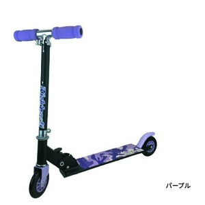 子供用 キックボード/おもちゃ 【パープル】 全長62cm 折り畳み 軽量 『キックンロールスクーター Kick'n RollScooter』 - 拡大画像
