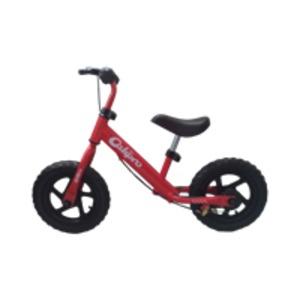 子供用 ウォーキングバイク 【12インチ レッド】 全長約88cm 重さ4kg ブレーキ付き ノーパンクタイヤ使用 スチール製 - 拡大画像
