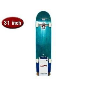 スケートボード/スケボー 【カナディアンメープル ブルー】 31インチ 長さ約78.5cm 耐荷重80kg 〔スポーツ用品 運動用品〕 - 拡大画像