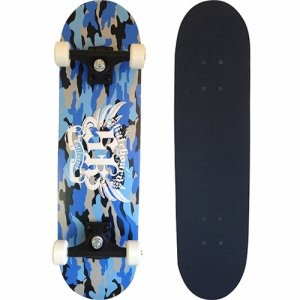 スケートボード/スケボー 【カモブルー】 28インチ 長さ約71cm 軽量 耐荷重80kg迄 〔スポーツ用品 運動用品〕 - 拡大画像