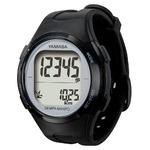 腕時計型 万歩計/歩数計 【ブラック×シルバー TM500-BKSL】 電波時計内蔵 生活防水 『DEMPA MANPO』 〔運動用品〕