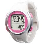 電波時計内蔵腕時計型 ウォッチ万歩計 DEMPA MANPO ホワイト×ピンク TM500-WP