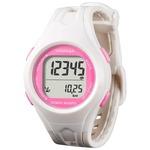 腕時計型 万歩計/歩数計 【ホワイト×ピンク TM450-WP】 電波時計内蔵 生活防水 『DEMPA MANPO』 〔運動用品〕