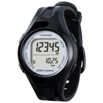 腕時計型 万歩計/歩数計 【ブラック×シルバー TM450-BKSL】 電波時計内蔵 生活防水 『DEMPA MANPO』 〔運動用品〕