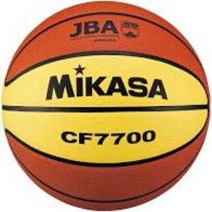 バスケットボール7号 検定球 天然皮革 茶/黄 - 拡大画像