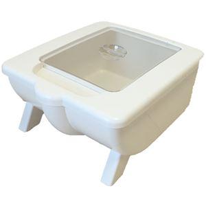 引出収納用樹脂製ライスディスペンサー(10kg収納) システムキッチン用 マイルドホワイト - 拡大画像