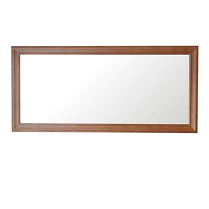 クラスウォールミラー W49×107cm 長方形壁掛け ライトブラウン - 拡大画像