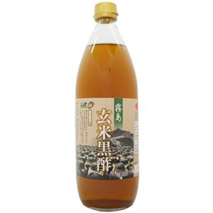 (まとめ)霧島玄米黒酢 1000ml【×2本セット】 - 拡大画像