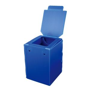 簡易トイレ/組立式便器 【2個セット】 プラスチック製ダンボール 簡単設置 『マイレット プラダントイレ』 〔災害対策〕 - 拡大画像