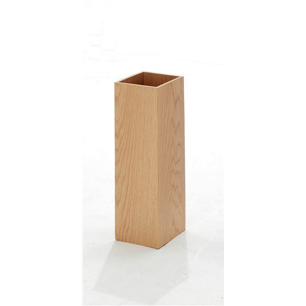 木目調 レインラック/傘立て 【ナチュラル】 幅16cm 表面:オーク材使用 約4本収納可 プラスチック製受皿付き 【完成品】