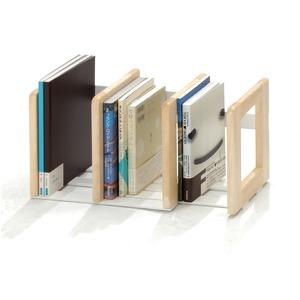 木製 本立/ブックスタンド 【ナチュラル】 幅31〜56cm スライド伸縮タイプ 幅調整可 【完成品】 - 拡大画像