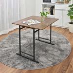 折りたたみテーブル/ダイニングテーブル 【スライド式天板】 幅75cm アジャスター付き ダークブラウン 組立品