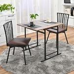 折りたたみ ダイニングテーブル&回転式食卓椅子 【3点セット デスク1台+チェア2脚】 デスク:約幅75cm スチール 〔リビング〕