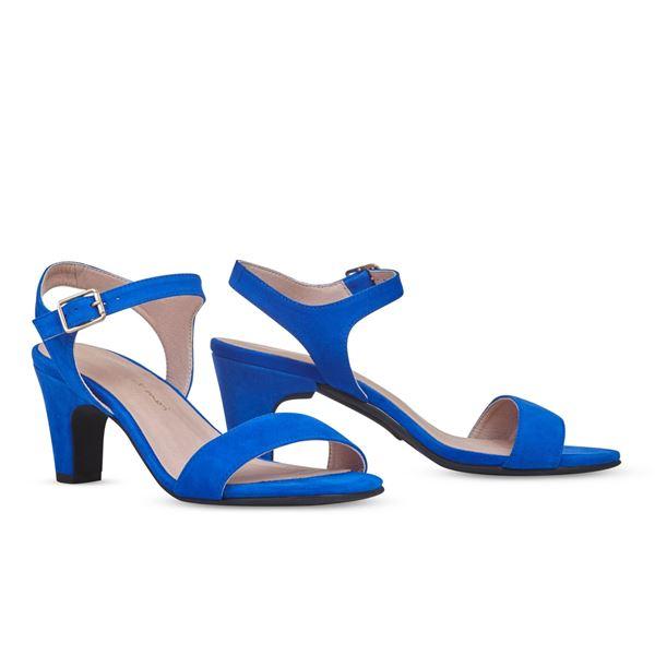 ヒール付け替え可能サンダル/婦人靴 【Bluette/Block 7cm ブルー サイズ:39(26cm相当)】 Mime et moi ミミ・エ・モイ