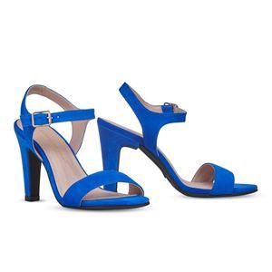 ヒール付け替え可能サンダル/婦人靴 【Bluette/Block 10cm ブルー サイズ:37(24cm相当)】 Mime et moi ミミ・エ・モイ - 拡大画像
