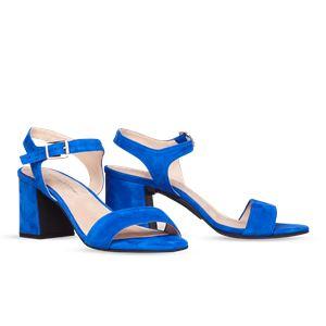 ヒール付け替え可能サンダル/婦人靴 【Bluette/Super Block 7cm ブルー サイズ:41(28cm相当)】 Mime et moi ミミ・エ・モイ - 拡大画像