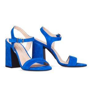 ヒール付け替え可能サンダル/婦人靴 【Bluette/Super Block 10cm ブルー サイズ:37(24cm相当)】 Mime et moi ミミ・エ・モイ - 拡大画像