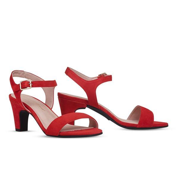 ヒール付け替え可能サンダル/婦人靴 【Poppy Red/Block 7cm レッド系 サイズ:37(24cm相当)】 Mime et moi ミミ・エ・モイ
