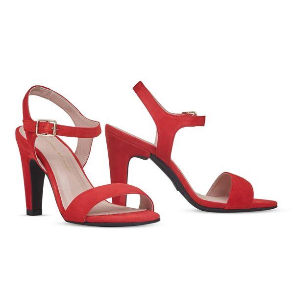 ヒール付け替え可能サンダル/婦人靴 【Poppy Red/Block 10cm レッド系 サイズ:39(26cm相当)】 Mime et moi ミミ・エ・モイ