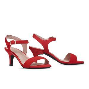 ヒール付け替え可能サンダル/婦人靴 【Poppy Red/Stiletto 7cm レッド系 サイズ:37(24cm相当)】 Mime et moi ミミ・エ・モイ - 拡大画像