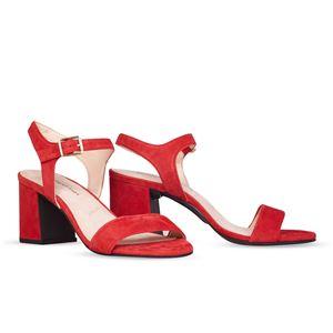 ヒール付け替え可能サンダル/婦人靴 【Poppy Red/Super Block 7cm レッド系 41(28cm相当)】 Mime et moi ミミ・エ・モイ - 拡大画像