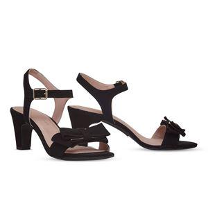 ヒール付け替え可能サンダル/婦人靴 【Black Bow/Block 7cm ブラック サイズ:40(27cm相当)】 Mime et moi ミミ・エ・モイ - 拡大画像