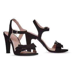 ヒール付け替え可能サンダル/婦人靴 【Black Bow/Block 10cm ブラック サイズ:41(28cm相当)】 Mime et moi ミミ・エ・モイ - 拡大画像