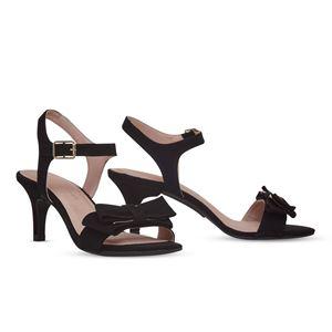ヒール付け替え可能サンダル/婦人靴 【Black Bow/Stiletto 7cm ブラック サイズ:41(28cm相当)】 Mime et moi ミミ・エ・モイ - 拡大画像