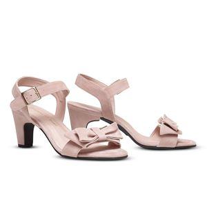 ヒール付け替え可能サンダル/婦人靴 【Rose Nude/Block 7cm ピンク系 サイズ:36(23cm相当)】 Mime et moi ミミ・エ・モイ - 拡大画像