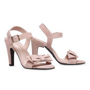 ヒール付け替え可能サンダル/婦人靴 【Rose Nude/Block 10cm ピンク系 サイズ:39(26cm相当)】 Mime et moi ミミ・エ・モイ - 拡大画像
