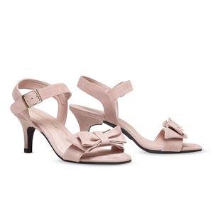 ヒール付け替え可能サンダル/婦人靴 【Rose Nude/Stiletto 7cm ピンク系 サイズ:37(24cm相当)】 Mime et moi ミミ・エ・モイ - 拡大画像