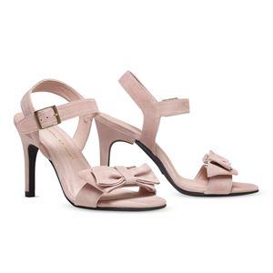 ヒール付け替え可能サンダル/婦人靴 【Rose Nude/Stiletto 10cm ピンク系 サイズ:38(25cm相当)】 Mime et moi ミミ・エ・モイ - 拡大画像