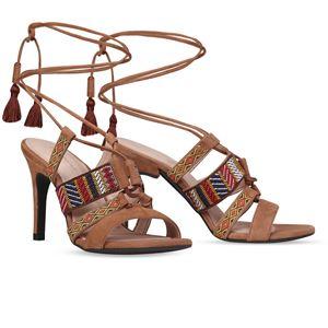 ヒール付け替え可能サンダル/婦人靴 【Indie Brown/Stiletto 10cm ブラウン系 41(28cm相当)】 Mime et moi ミミ・エ・モイ - 拡大画像