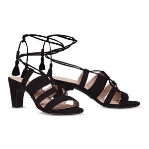 ヒール付け替え可能サンダル/婦人靴 【Indie Black/Block 7cm ブラック サイズ:36(23cm相当)】 Mime et moi ミミ・エ・モイ - 拡大画像
