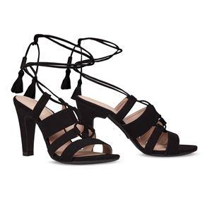 ヒール付け替え可能サンダル/婦人靴 【Indie Black/Block 10cm ブラック サイズ:37(24cm相当)】 Mime et moi ミミ・エ・モイ - 拡大画像
