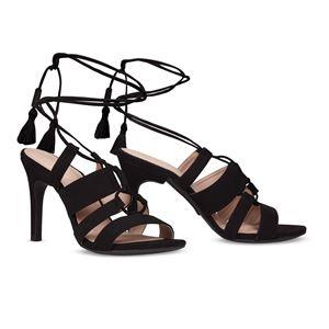ヒール付け替え可能サンダル/婦人靴 【Indie Black/Stiletto 10cm ブラック 40(27cm相当)】 Mime et moi ミミ・エ・モイ - 拡大画像