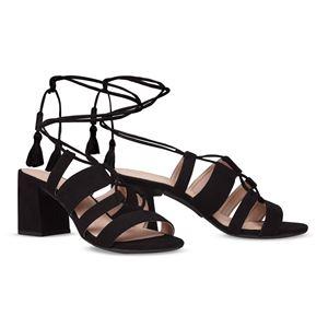 ヒール付け替え可能サンダル/婦人靴 【Indie Black/Super Block 7cm ブラック 37(24cm相当)】 Mime et moi ミミ・エ・モイ - 拡大画像