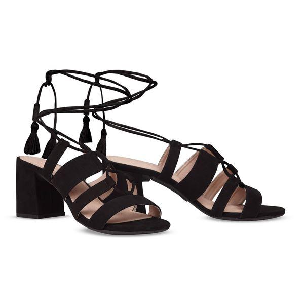 ヒール付け替え可能サンダル/婦人靴 【Indie Black/Super Block 7cm ブラック 37(24cm相当)】 Mime et moi ミミ・エ・モイ