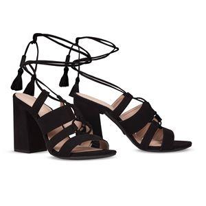 ヒール付け替え可能サンダル/婦人靴 【Indie Black/Super Block 10cm ブラック 37(24cm相当)】 Mime et moi ミミ・エ・モイ - 拡大画像