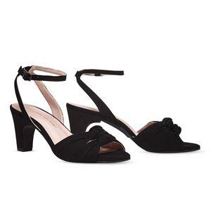 ヒール付け替え可能サンダル/婦人靴 【Black Twirl/Block 7cm ブラック サイズ:40(27cm相当)】 Mime et moi ミミ・エ・モイ - 拡大画像
